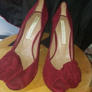 Pura Lopez suede high heels